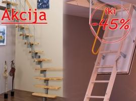 Moduliniai ir palėpės laiptai Minka, Fakro, Mobirolo, Atrium